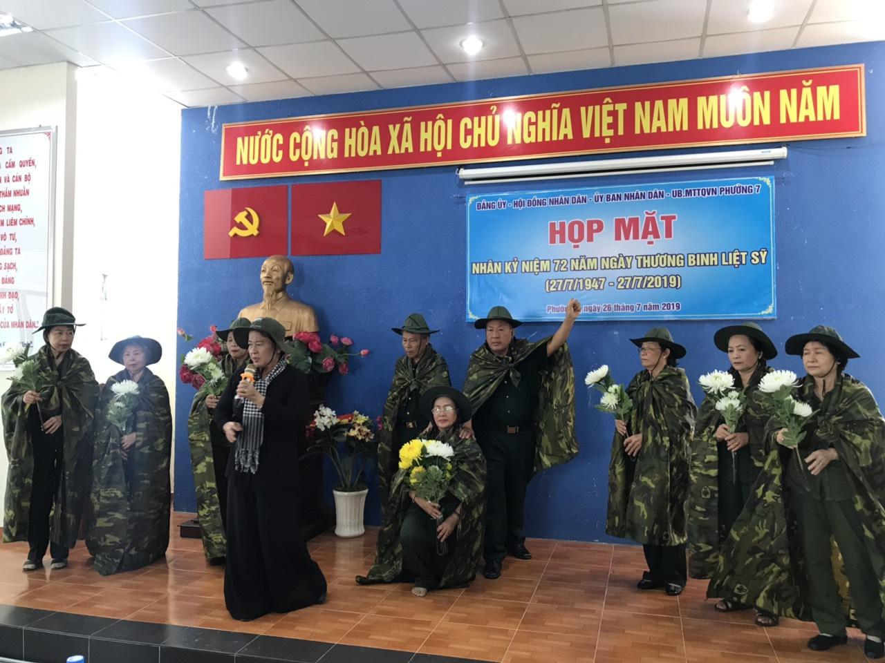 Phường 7: Tổ chức các hoạt động kỷ niệm 72 năm ngày Thương binh – Liệt sĩ