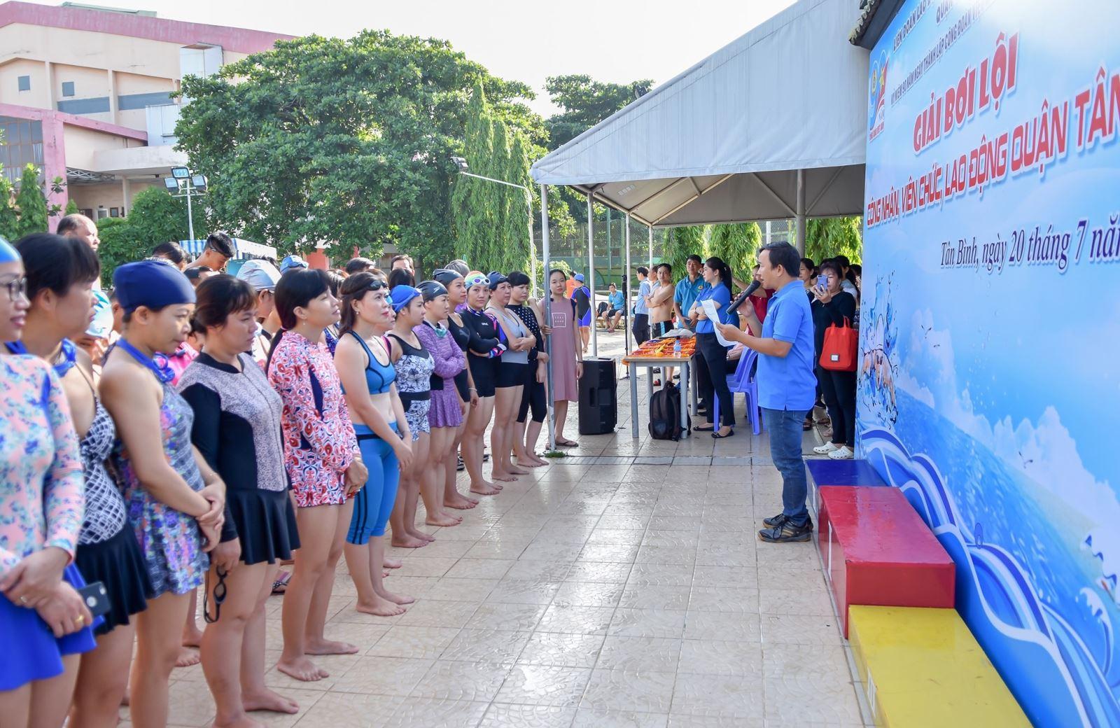 Giải bơi lội công nhân, viên chức, người lao động quận Tân Bình.