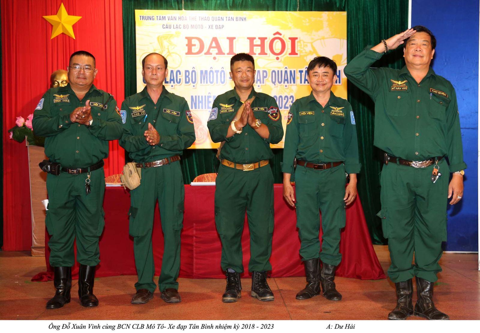 Ông Đỗ Xuân Vinh tái đắc cử chủ nhiệm CLB Mô tô – Xe Đạp Q. Tân Bình