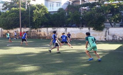 Phường 5: Tổ chức giải bóng đá truyền thống.