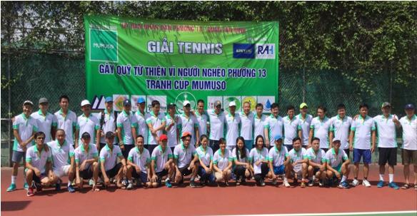 """Phường 13: Tổ chức """"Giải tennis doanh nhân tranh cúp MUMUSO."""