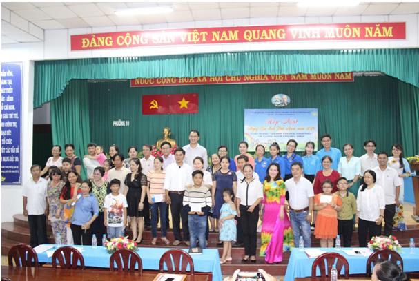 """Phường 10: Họp mặt Ngày gia đình Việt Nam 28/6, tuyên dương """"gia đình văn hóa, hạnh phúc"""" và """"gương người con hiếu thảo"""" năm 2018"""