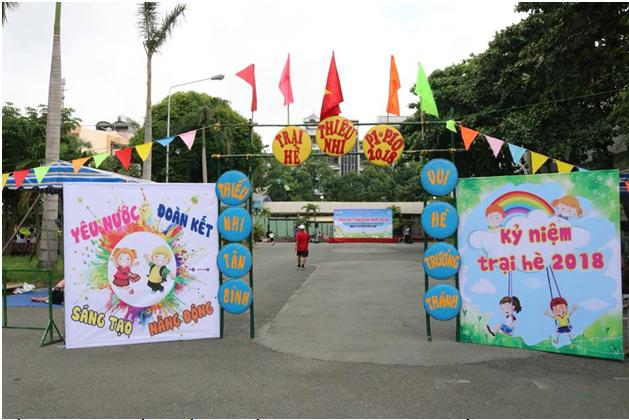 Thiếu nhi phường 10 kỷ niệm trại hè vui để trưởng thành năm 2018