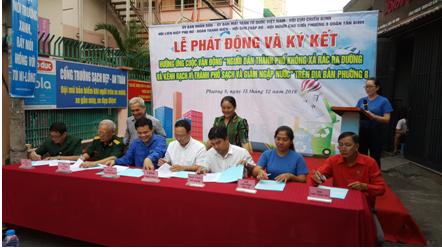 Phường 8: Tổ chức lễ ký kết không xả rác vì thành phố Văn minh - Sạch - Đẹp