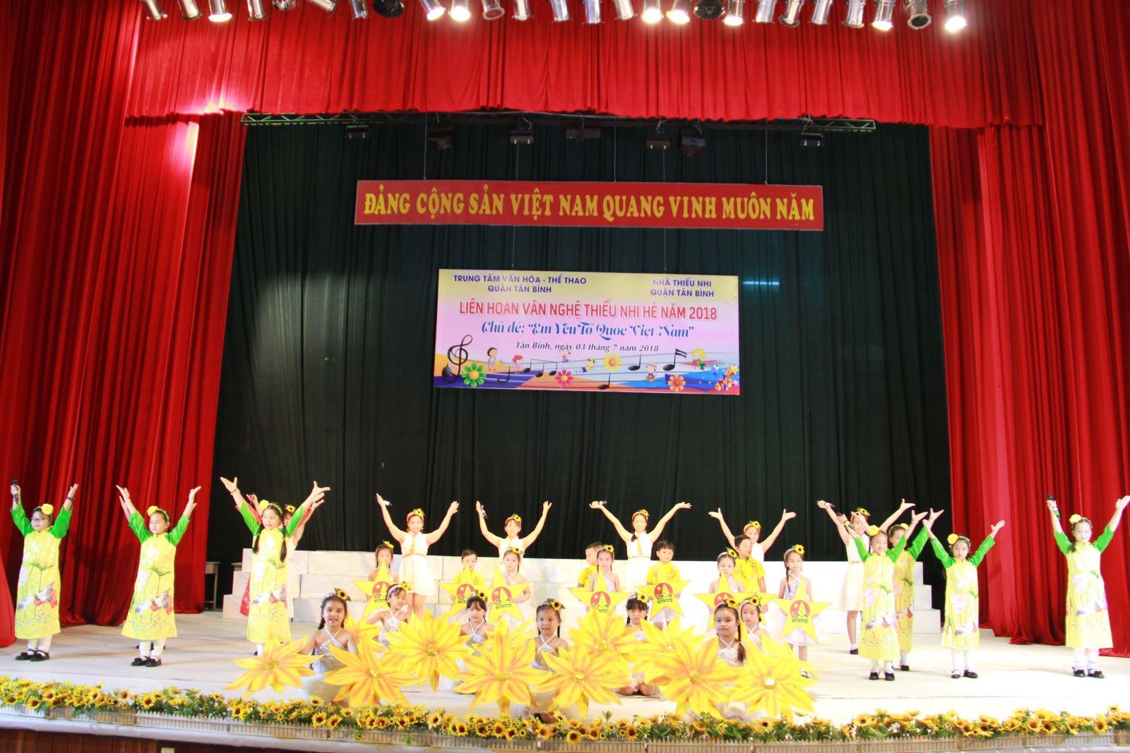 TT. VH - TT Q.Tân Bình: Liên hoan văn nghệ thiếu nhi hè quận Tân Bình năm 2018.