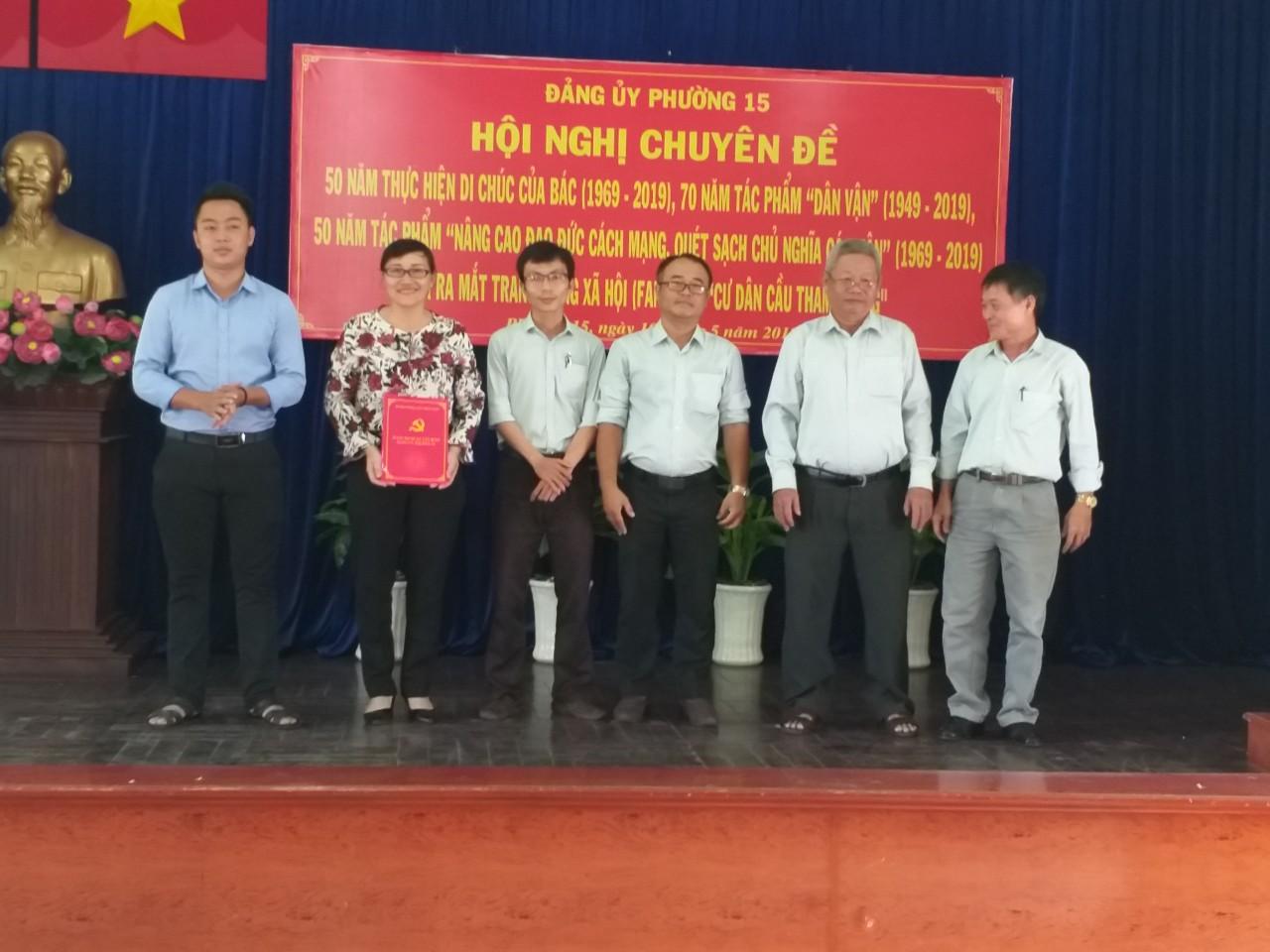 Phường 15: Tổ chức ra mắt Ban quản trị trang Fanpage ``Cư dân cầu Tham Lương``.