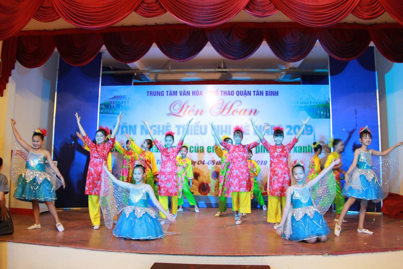 Liên hoan Văn nghệ thiếu nhi hè quận Tân Bình năm 2019