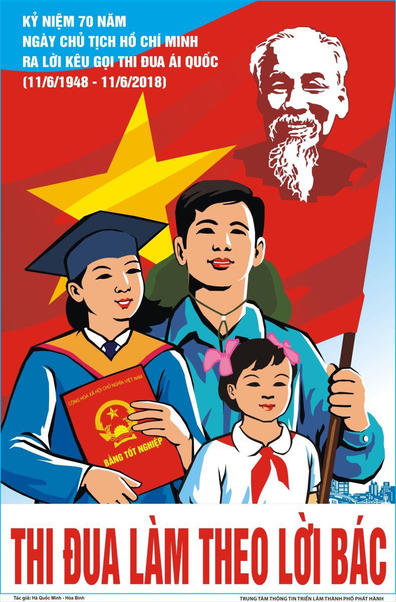 Tuyên truyền kỷ niệm 70 năm CT HCM ra lời kêu gọi thi đua ái quốc (11/6/1948 - 11/6/2018)
