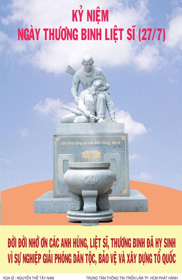 Tuyên truyền kỷ niệm 71 năm ngày Thương binh - liệt sĩ (27/7/1947 - 27/7/2018)