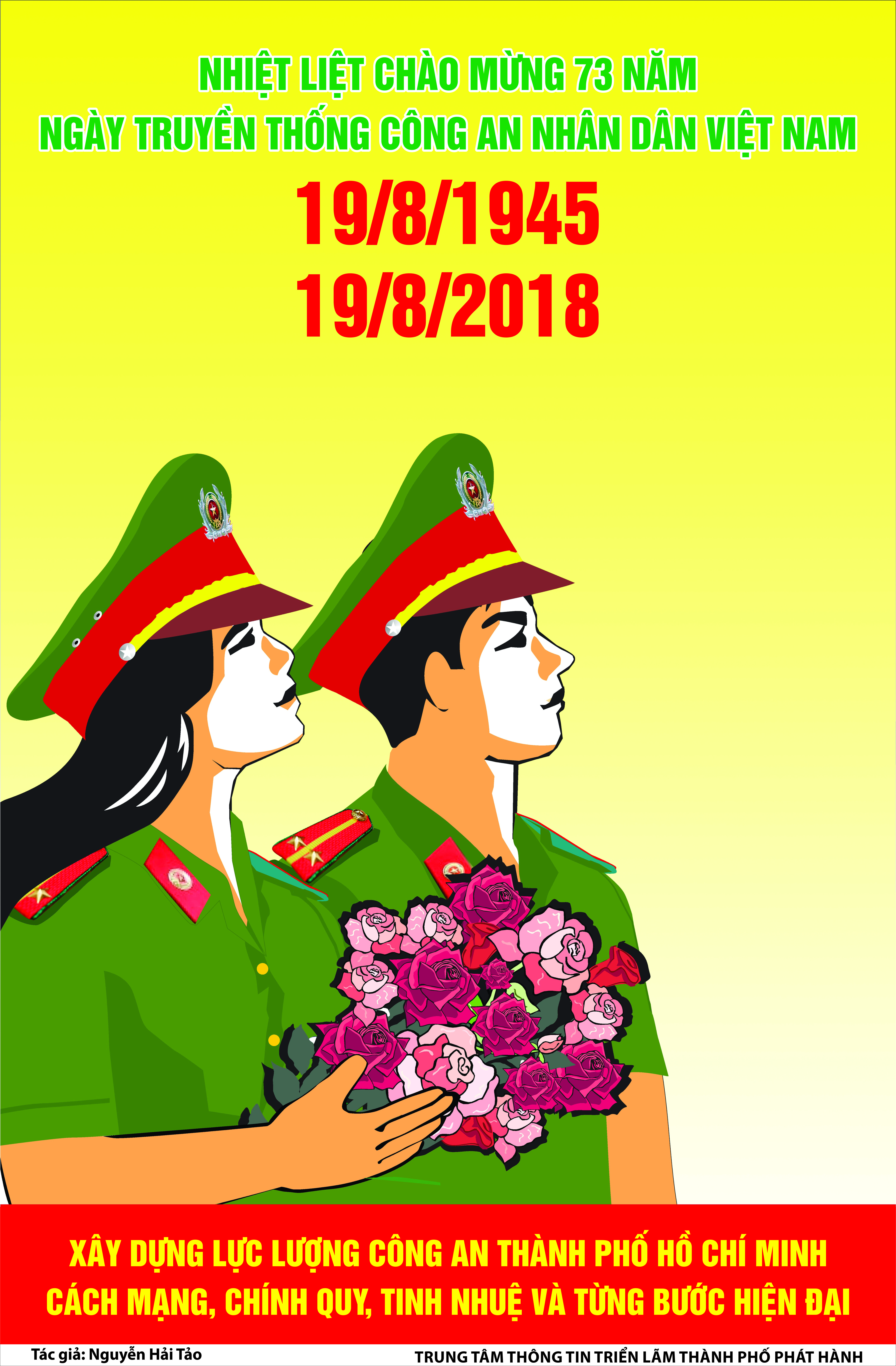 Tuyên truyền kỷ niệm 73 năm ngày truyền thống CAND (19/8/1945 - 19/8/2018)