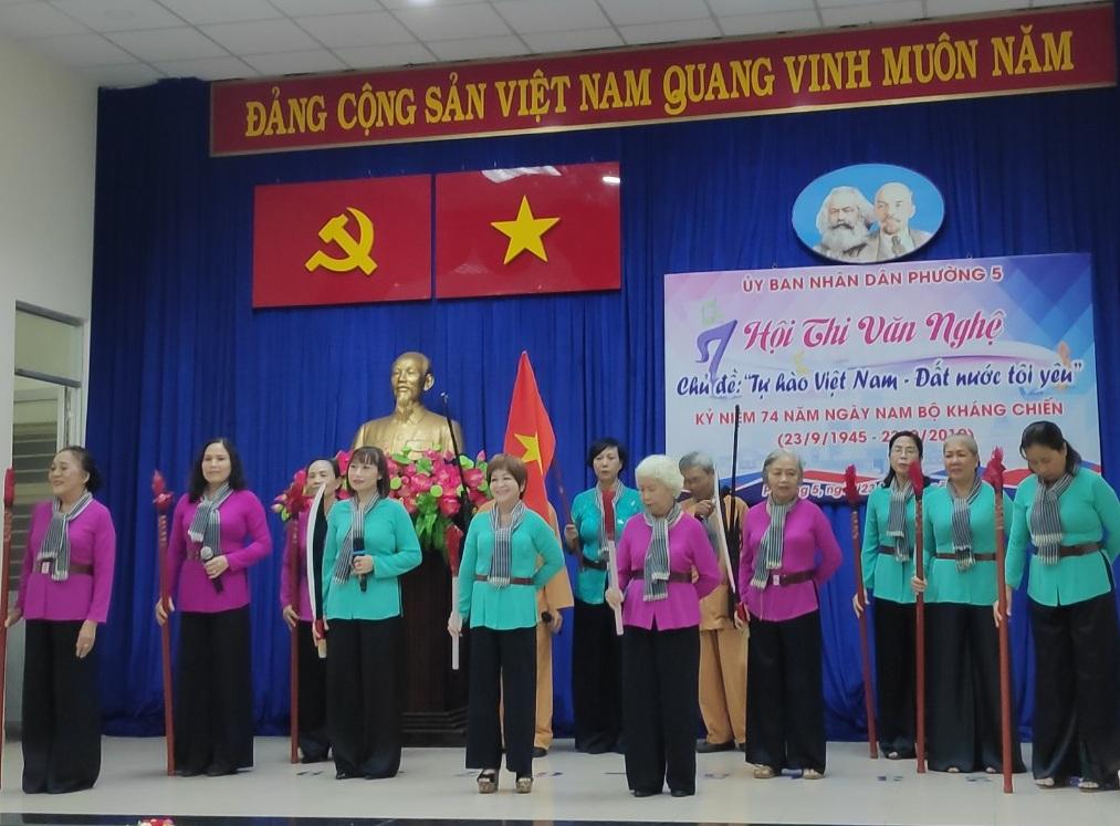 """Phường 5: Tổ chức Hội thi văn nghệ """"Tự hào Việt Nam – Đất nước tôi yêu"""""""