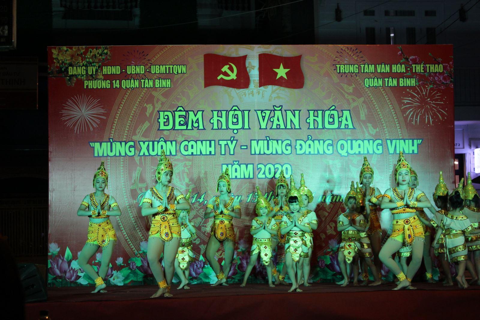 """Phường 14: Tổ chức Đêm hội văn hóa """"Mừng Xuân Canh Tý - Mừng Đảng quang vinh"""" năm 2020"""