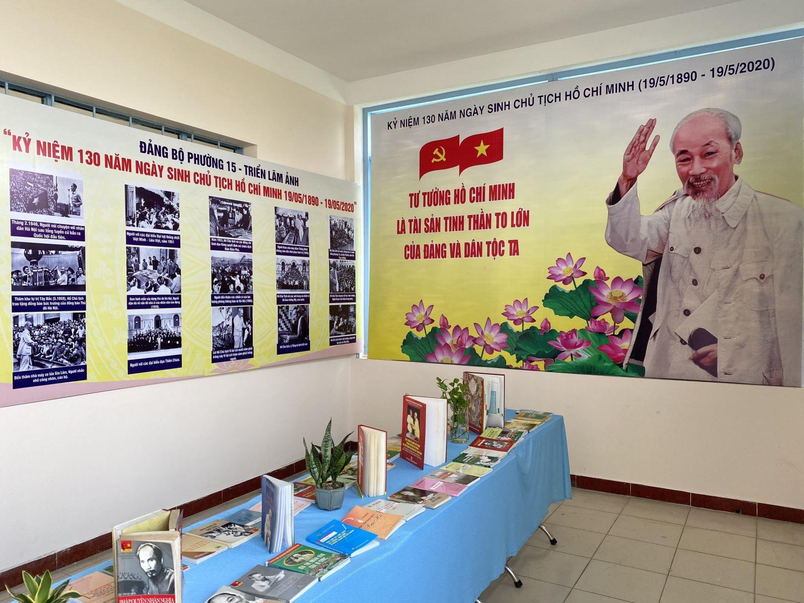 Phường 15: Tổ chức Triển lãm sách và ảnh về cuộc đời, sự nghiệp của Chủ tịch Hồ Chí Minh