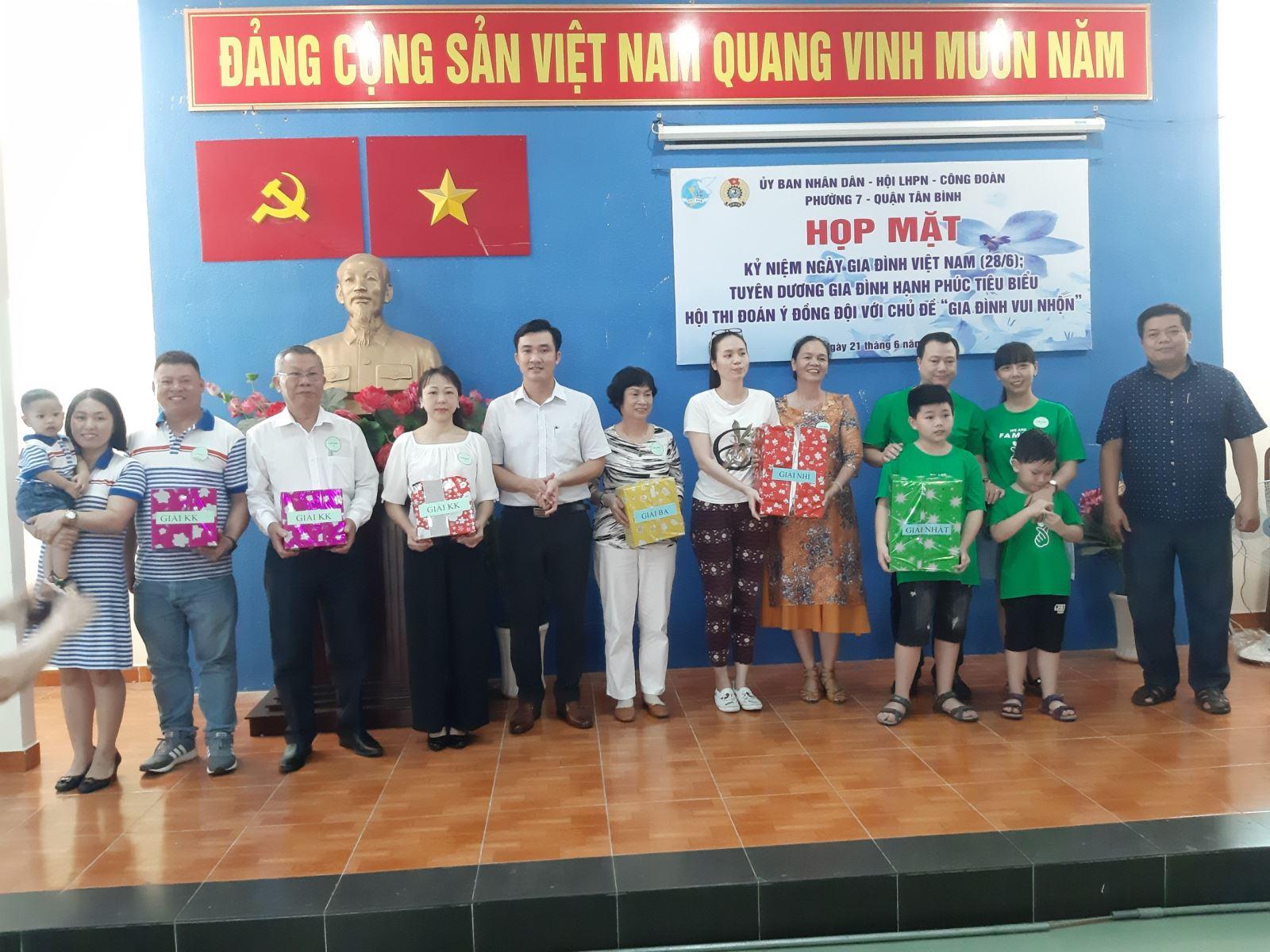 Phường 7: Tổ chức các hoạt động kỷ niệm Ngày Gia đình Việt Nam (28/6)
