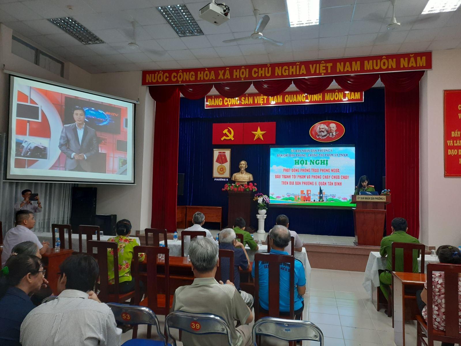 Phường 6: tổ chức Hội nghị phát động phong trào phòng ngừa, đấu tranh tội phạm