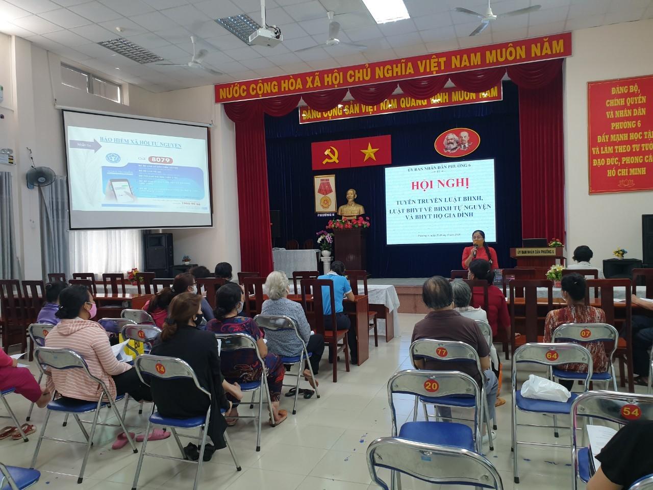 Phường 6: tổ chức Hội nghị tuyên truyền về chính sách BHXH tự nguyện