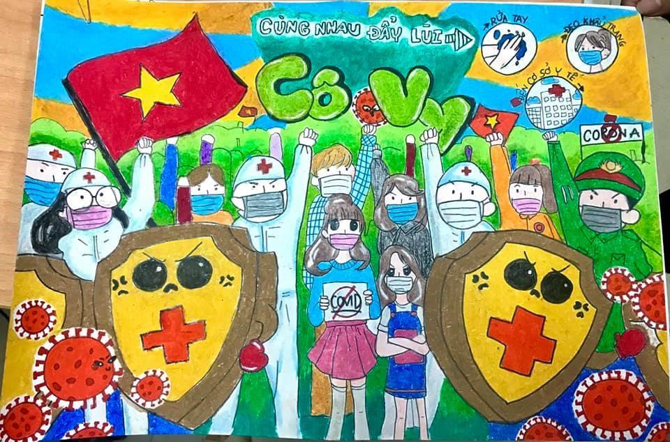 """Phường 14: Tổ chức Hội thi vẽ tranh chủ đề """"Phòng chống dịch Covid - 19"""""""