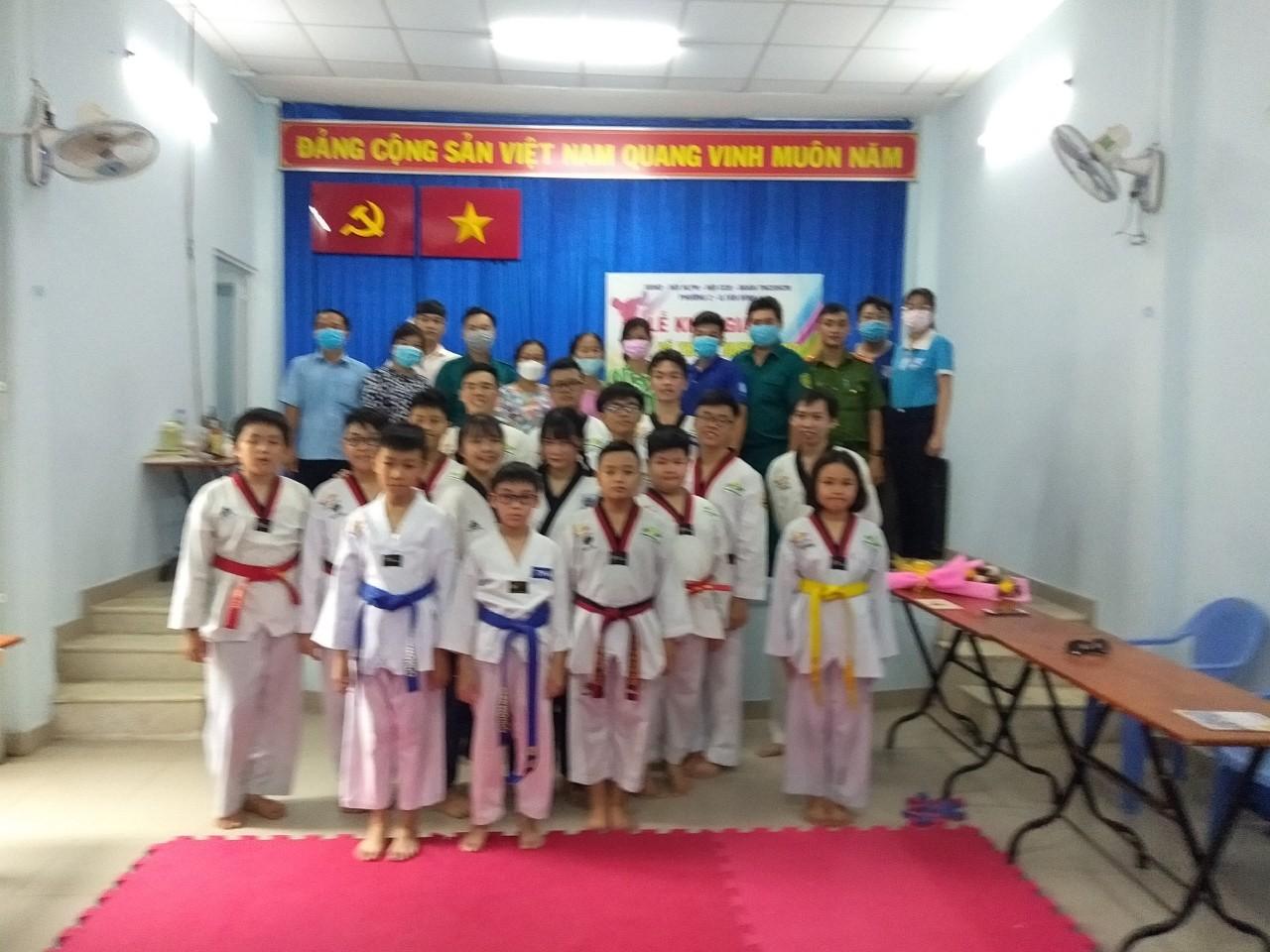 Phường 2: Tổ chức ra mắt Câu lạc bộ ``Taekwondo phong trào``