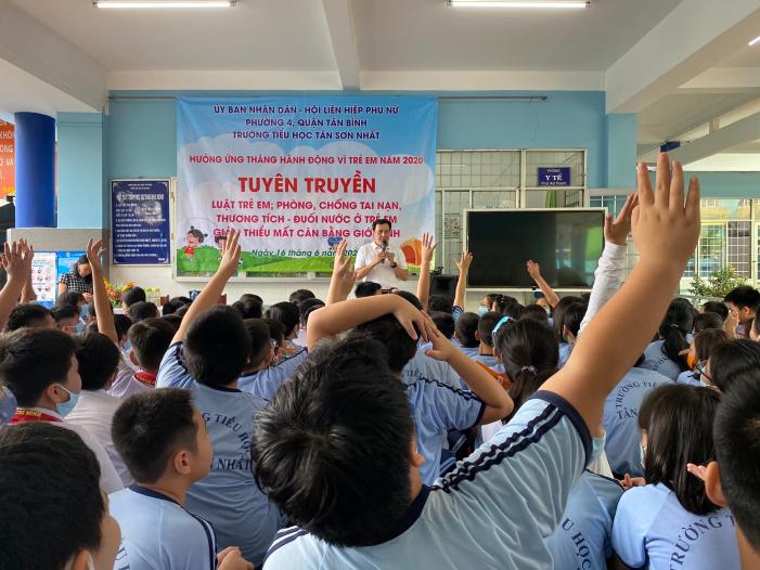 Phường 4: Tổ chức tuyên truyền luật trẻ em, kỹ năng phòng, chống tai nạn đuối nước năm 2020