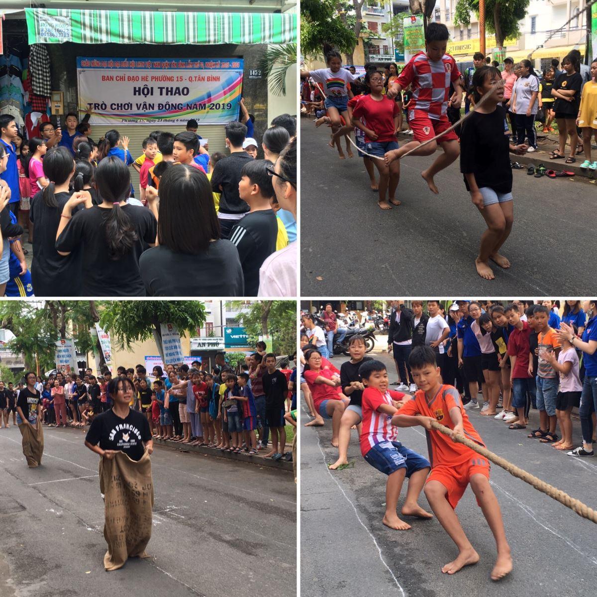 Phường 15: Tổ chức Hội thao các môn trò chơi vận động hè năm 2019