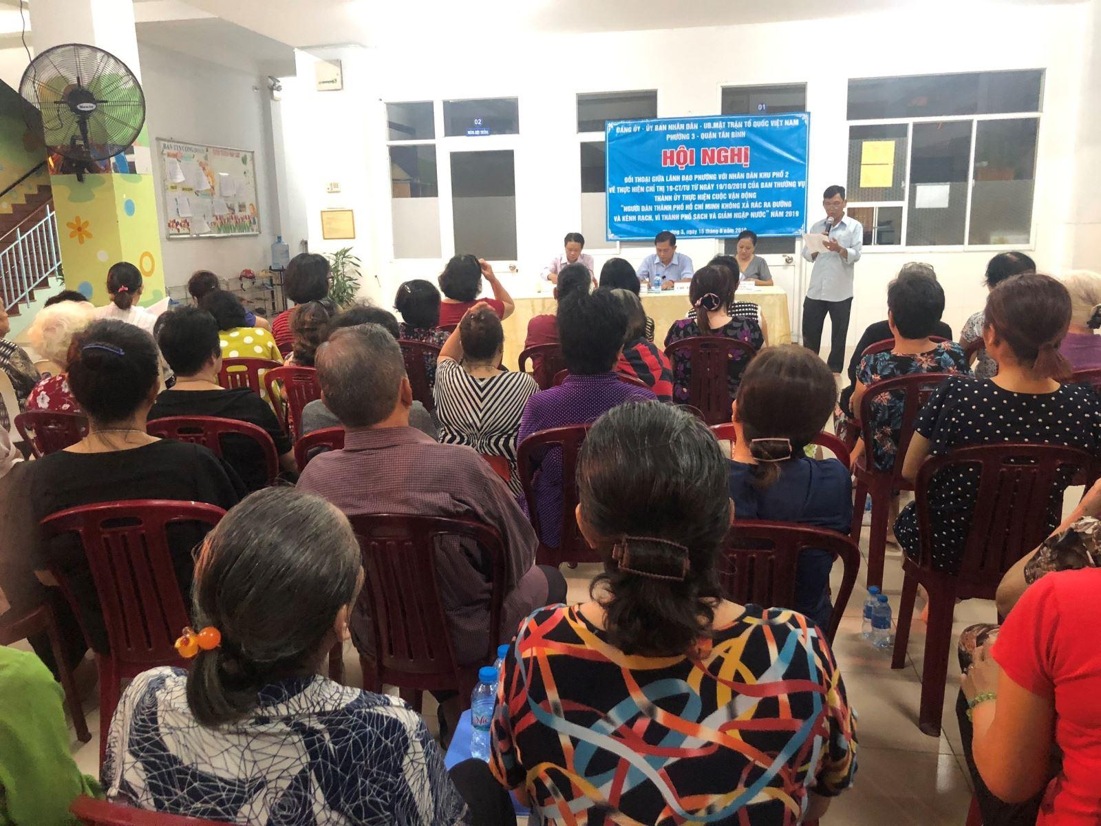 Phường 3: Tổ chức Hội nghị đối thoại giữa lãnh đạo phường với nhân dân khu phố 2
