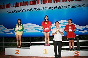 Quận Tân Bình đạt giải nhì toàn đoàn – Giải bơi – lặn năng khiếu thành phố năm 2017